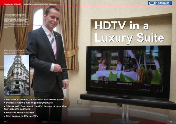 HDTV in a Luxury Suite