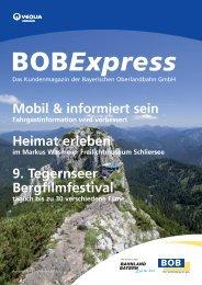 Der BOBExpress - Bayerische Oberlandbahn