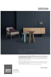download the zeitraum low-atelier, side pdf file ... - Spencer Interiors