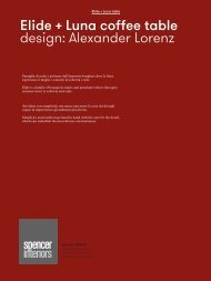 download the Potocco Elide pdf file: 812 kb - Spencer Interiors