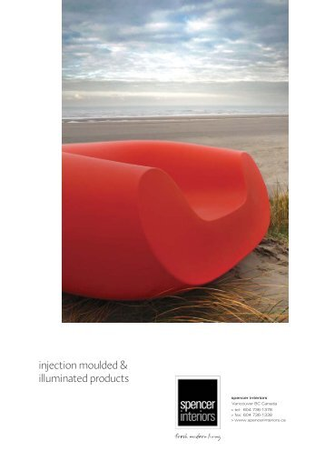 injection moulded & illuminated products - Spencer Interiors