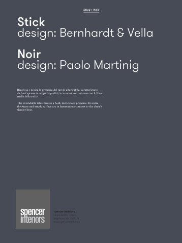 download the Potocco Noir pdf file: 1.29 mb - Spencer Interiors
