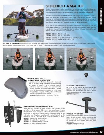 Sidekick AMA Kit, Hobie Sail & Island Trampoline - Tackle Shack