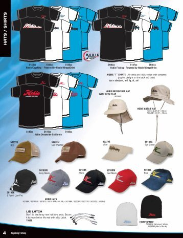 Hats, Shirts, Sunglasses, Accessories & Hobie Bags - Tackle Shack