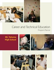 Career and Technical Education - Tacoma Public Schools