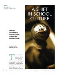 A SHIFT IN SCHOOL CULTURE - Tacoma Public Schools