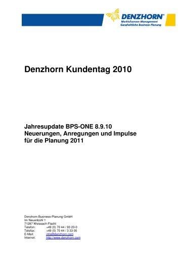 Unterlagen Denzhorn Kundentag 2010