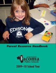 Parent Resource Handbook - Tacoma Public Schools