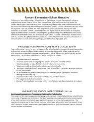 Fawcett Elementary School Narrative - Tacoma Public Schools