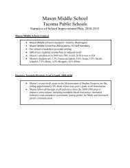 Mason Middle School - Tacoma Public Schools