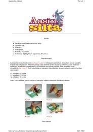 Sivu 1/3 Aasinsilta-säännöt 16.5.2008 http://www.nelostuote ... - Tactic