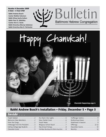 Happy Chanukah! - Baltimore  Hebrew Congregation