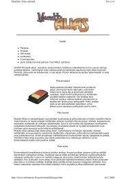 Sivu 1/4 Musiikki Alias-säännöt 16.5.2008 http://www ... - tactic
