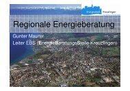 Vortrag Energieberatung Kreuzlingen vom 16.01.2008 - Gemeinde ...