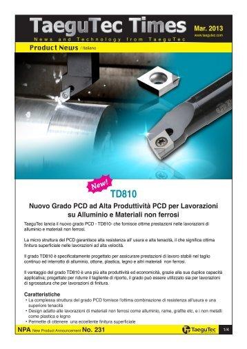Nuovo Grado PCD ad Alta Produttività PCD per Lavorazioni su ...