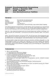 Protokoll Gemeindeversammlung 01.12.2008 - Einwohnergemeinde ...