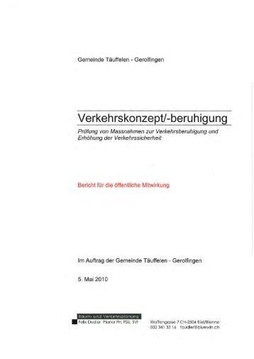 Verkeh rskonzept/-beru h ig u ng - Einwohnergemeinde Täuffelen ...