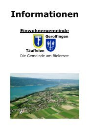Infos Dezember 2008 - Einwohnergemeinde Täuffelen-Gerolfingen