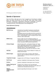 Hintergrundinformation - Bundesverband Deutsche Tafel e.V.