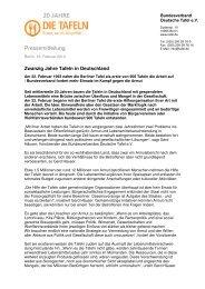 Pressemitteilung - Bundesverband Deutsche Tafel e.V.