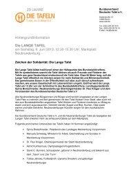 Langen Tafel am 8. Juni 2013 - Bundesverband Deutsche Tafel e.V.