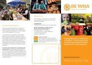 Flyer Tafel 2011.indd - Bundesverband Deutsche Tafel e.V.
