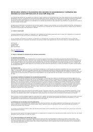 Déclaration relative à la protection des données et ... - Taff Tool AG