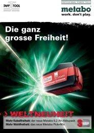Die ganz grosse Freiheit! - Taff Tool AG