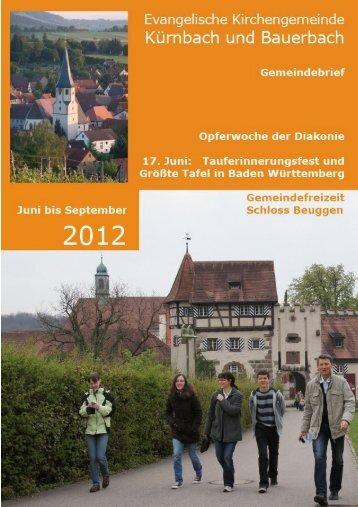 Evang. Kirchengemeinde Kürnbach und Bauerbach