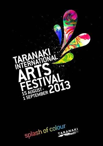 Click here to download the full festival programme - Taranaki Arts ...