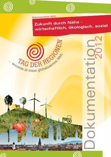 Dokumentation 2012 - Tag der Regionen