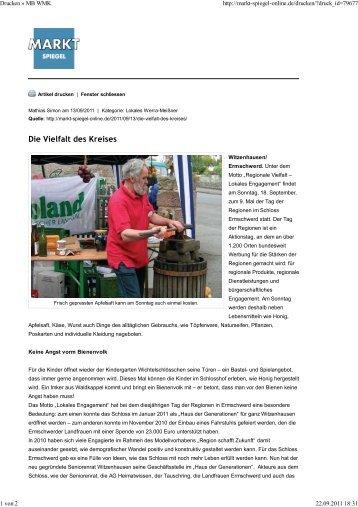 Markt Spiegel vom 13. September 2011 - Tag der Regionen