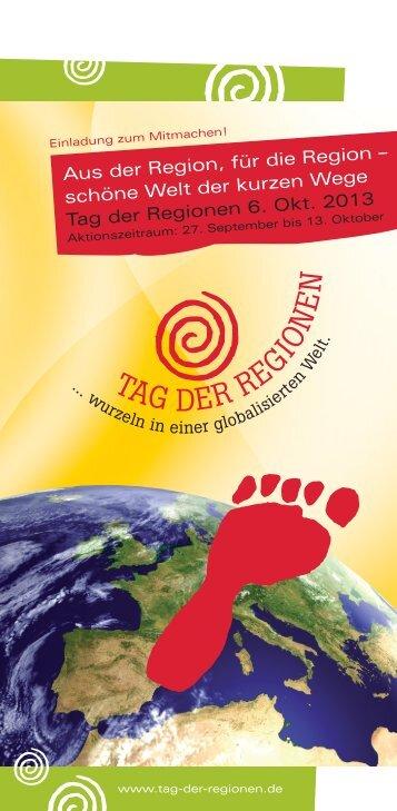 Jahreseinleger zur Broschüre - Tag der Regionen