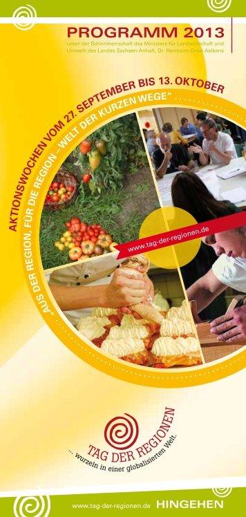 PROGRAMM 2013 - Tag der Regionen