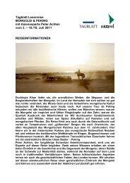 Tagblatt Leserreise MONGOLEI & PEKING mit ... - St. Galler Tagblatt