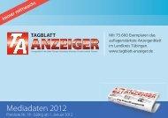 Mediadaten 2012 - Schwäbisches Tagblatt