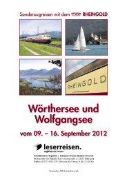 Wörthersee und Wolfgangsee
