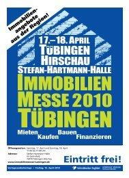 Immobilienmesse 2010 • Tübingen - Schwäbisches Tagblatt