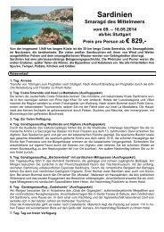 Sardinien 9. bis 16. Mai 2014