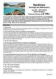 Reiseinfos Sardinien 2013
