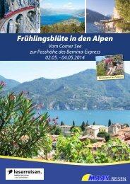 Reiseinfos Frühlingsblüte in den Alpen 2. bis 4. Mai 2014 [545,14 kB]