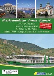 """Flusskreuzfahrten """"Donau - Sinfonie"""""""