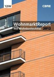 GSW-Wohnmarktreport 2012 - Berlin Business Location Center