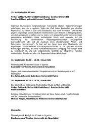 39. Multireligiöse Rituale - DGV-Tagung 2011: Wa(h)re