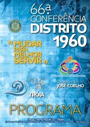 Programa da 66ª Conferência Distrito 1960 - Tagus