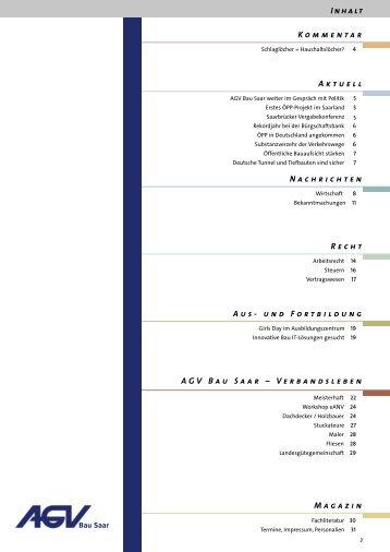 Kommentar Aktuell Nachrichten Recht Aus- und ... - AGV Bau Saar