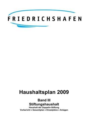 Haushaltsplan 2009 - Friedrichshafen