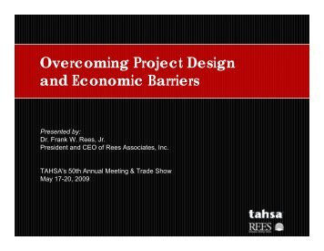 Overcoming Project Design and Economic Barriers Case ... - TAHSA