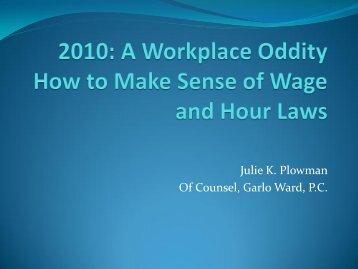 Julie K. Plowman Of Counsel, Garlo Ward, P.C.