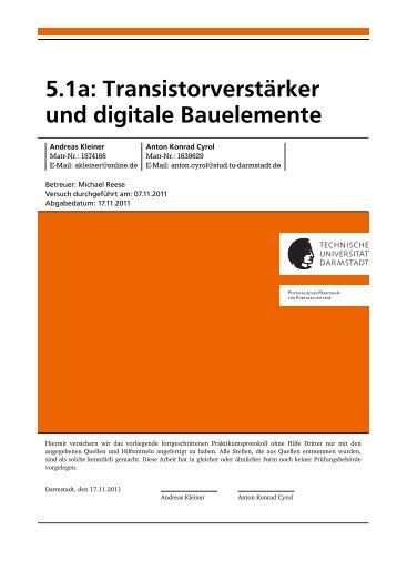 5.1a: Transistorverstärker und digitale Bauelemente - Tao Tai Chi ...